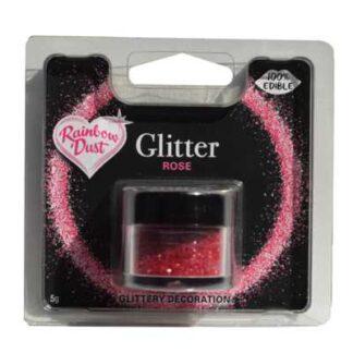 eetbare glitter donker roze