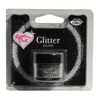 eetbare zilveren glitters van Rainbow Dust