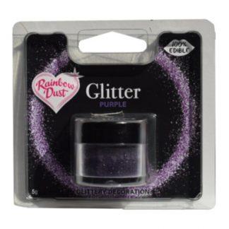 eetbare glitter paars van Rainbow Dust