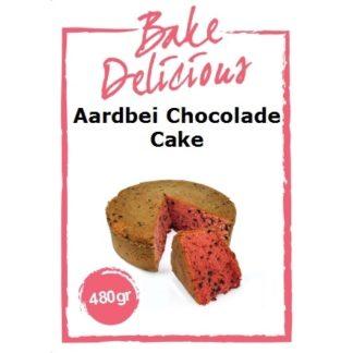 mix voor aardbei chocolade cake van Bake Delicious