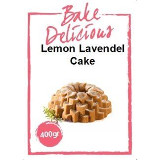 Bake delicious lemon lavendel cake 400 gram verpakking