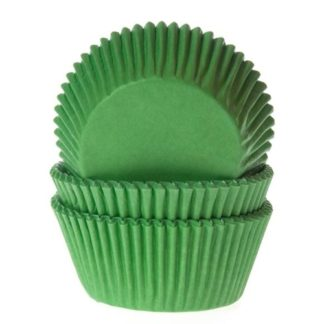gras groene cupcake papiertje