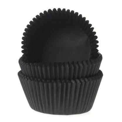 zwarte cupcake papiertjes