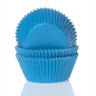 cyaan blauwe cupcake papiertjes