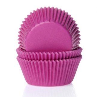 fuchsia roze cupcake papiertjes