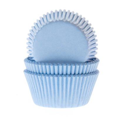 licht blauwe cupcake papiertjes