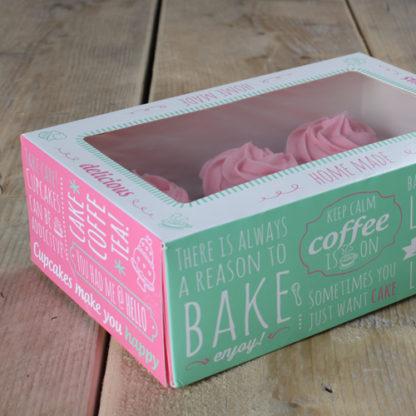 doos voor 6 cupcakes 15 mini cupcakes