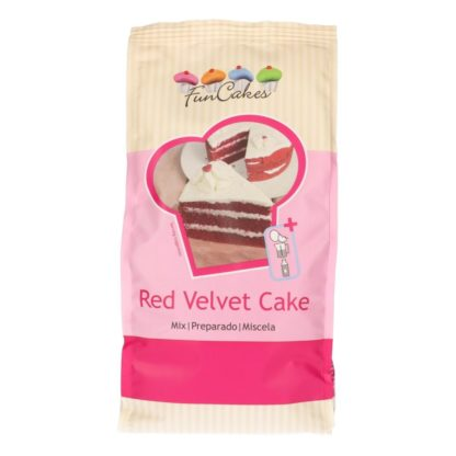 FunCakes mix voor red velvet cake zak 1 kilogram