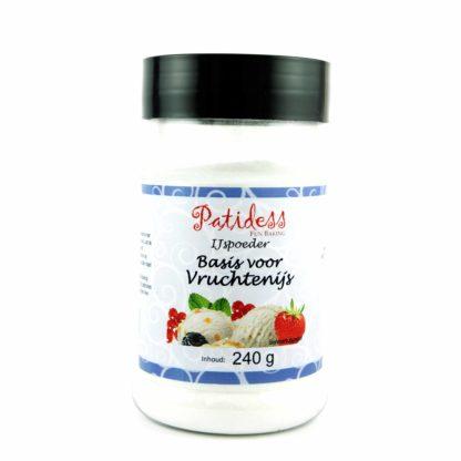 ijspoeder voor vruchtensorbetijs van patidess pot 240 gram