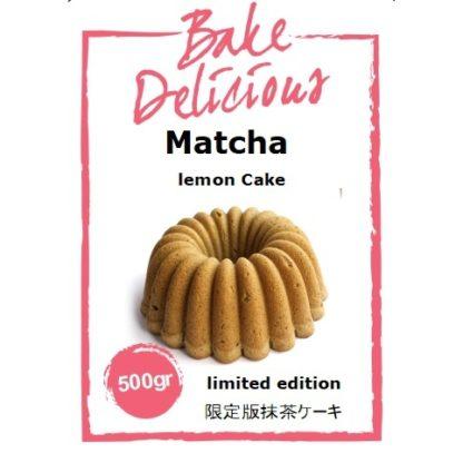 Mix voor matcha lemon cake van Bake Delicious