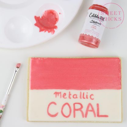 edible art metallic coral