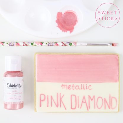 Pink diamond edible art paint
