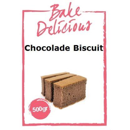 mix voor chocolade biscuit van Bake Delicious zak 500 gram