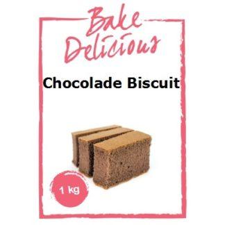 mix voor chocolade biscuit van Bake Delicious 1 kg