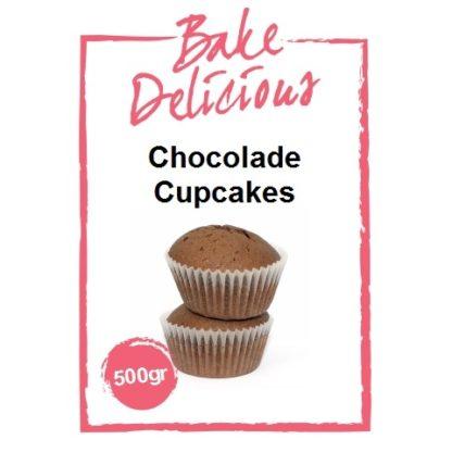 mix voor chocolade cupcakes van bake delicious