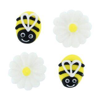 suikerfiguurtjes bijen en madeliefjes
