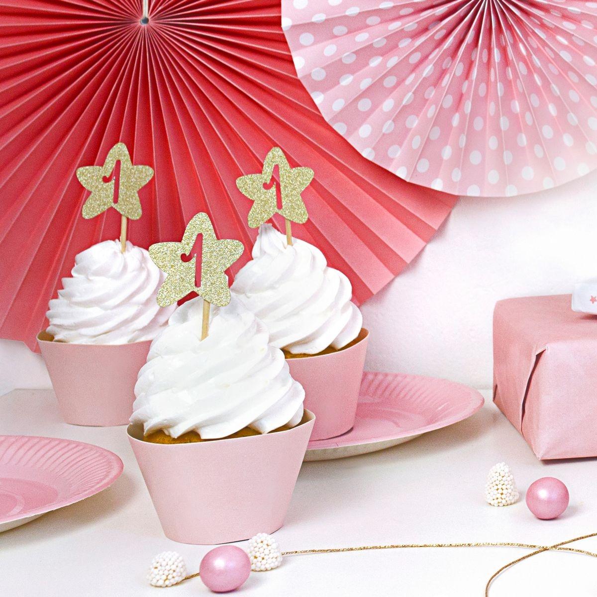 cijfer 1 cupcake versiering