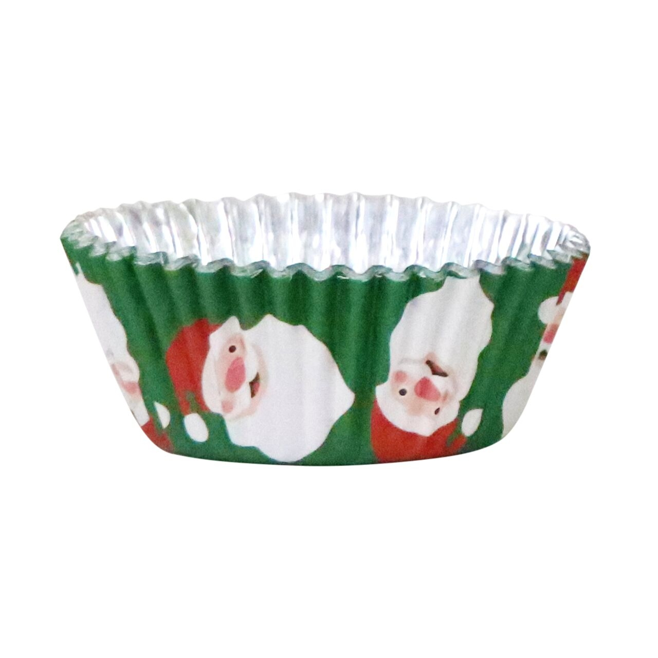Baking Cups Folie Christmas Santa