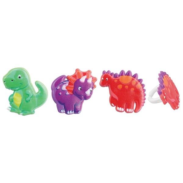 Dinosaurus Ringen Set 6 stuks