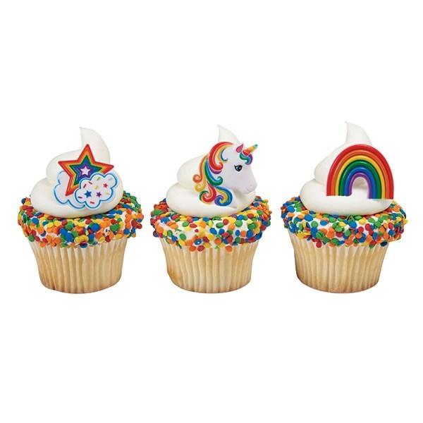 cupcakes met eenhoorn decoratie