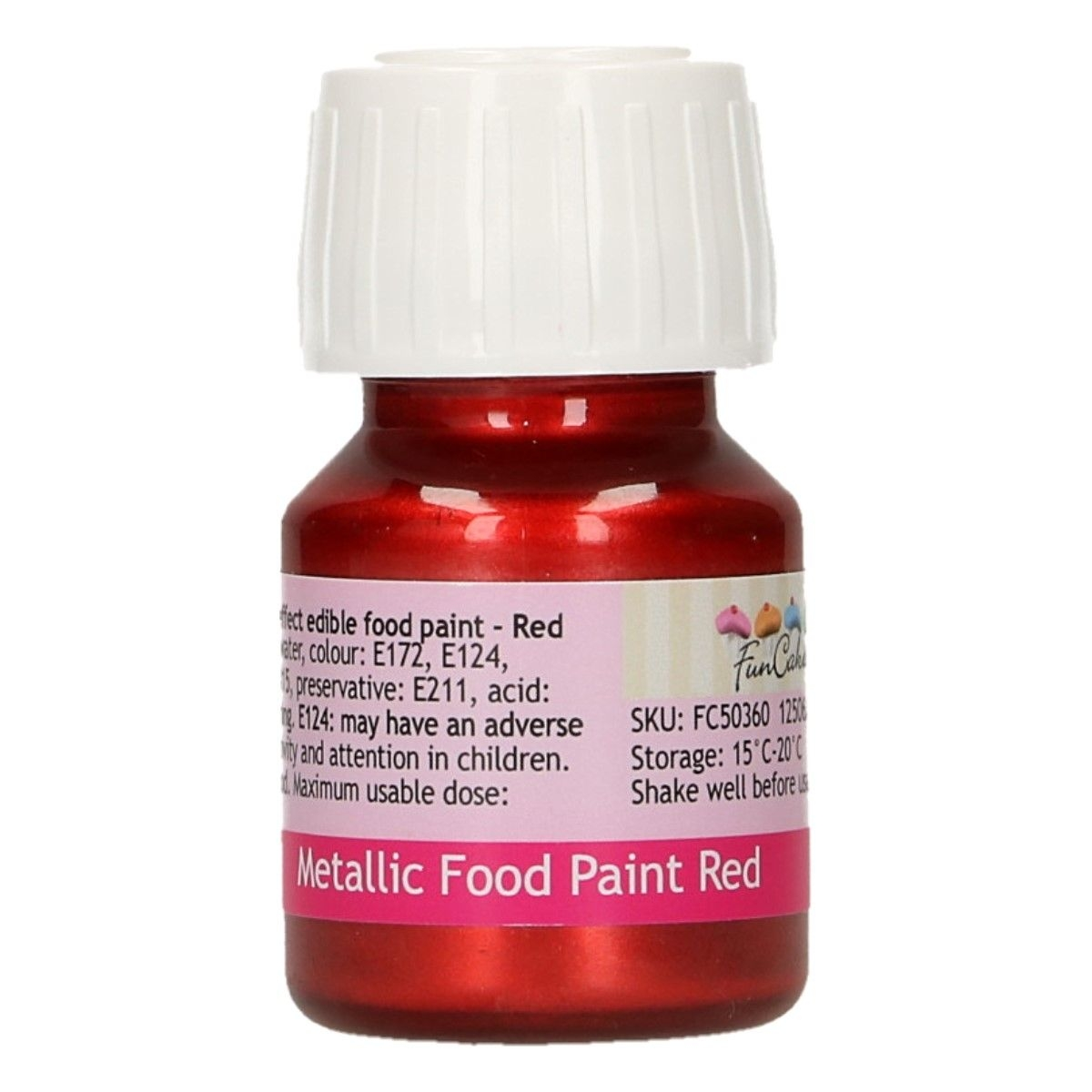 FunColours Metallic Food Paint Red