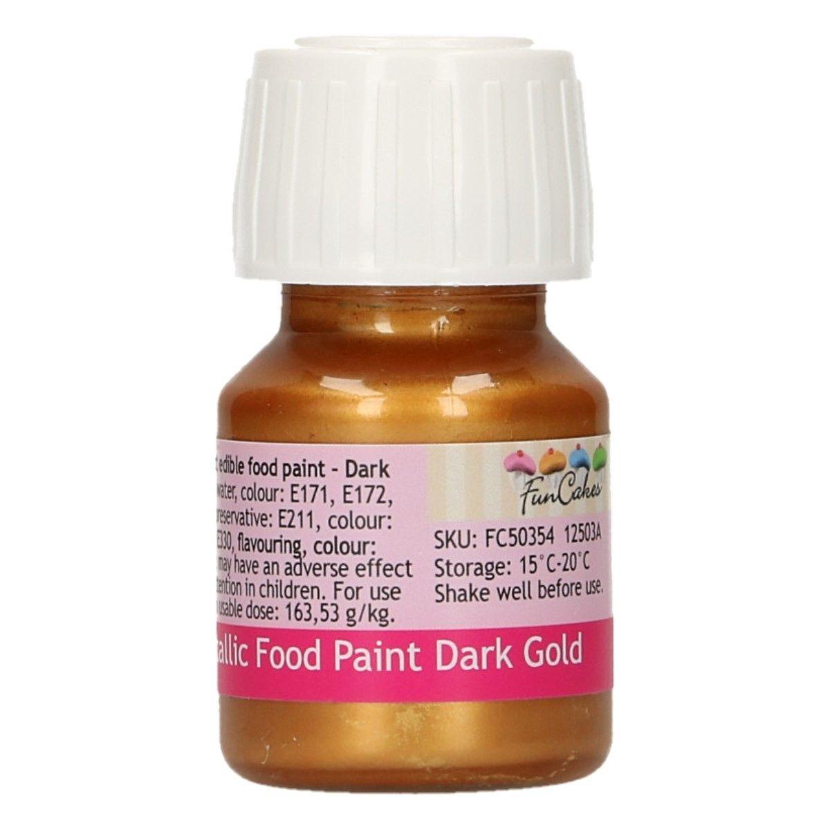 FunColours Metallic Food Paint Dark Gold