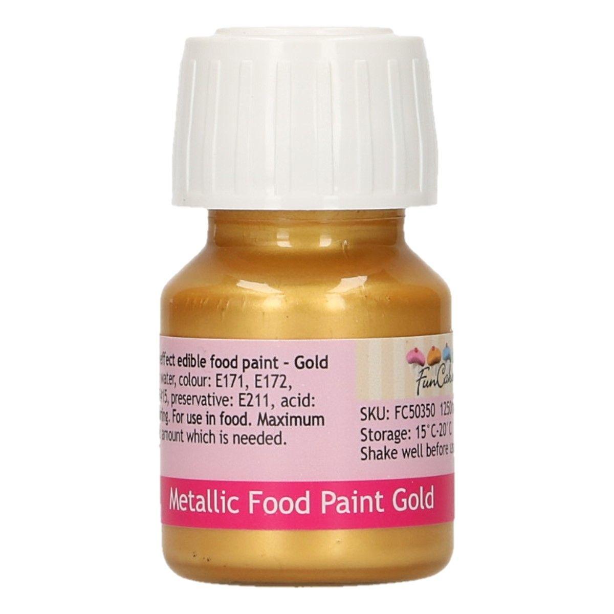 FunColours Metallic Food Paint Gold