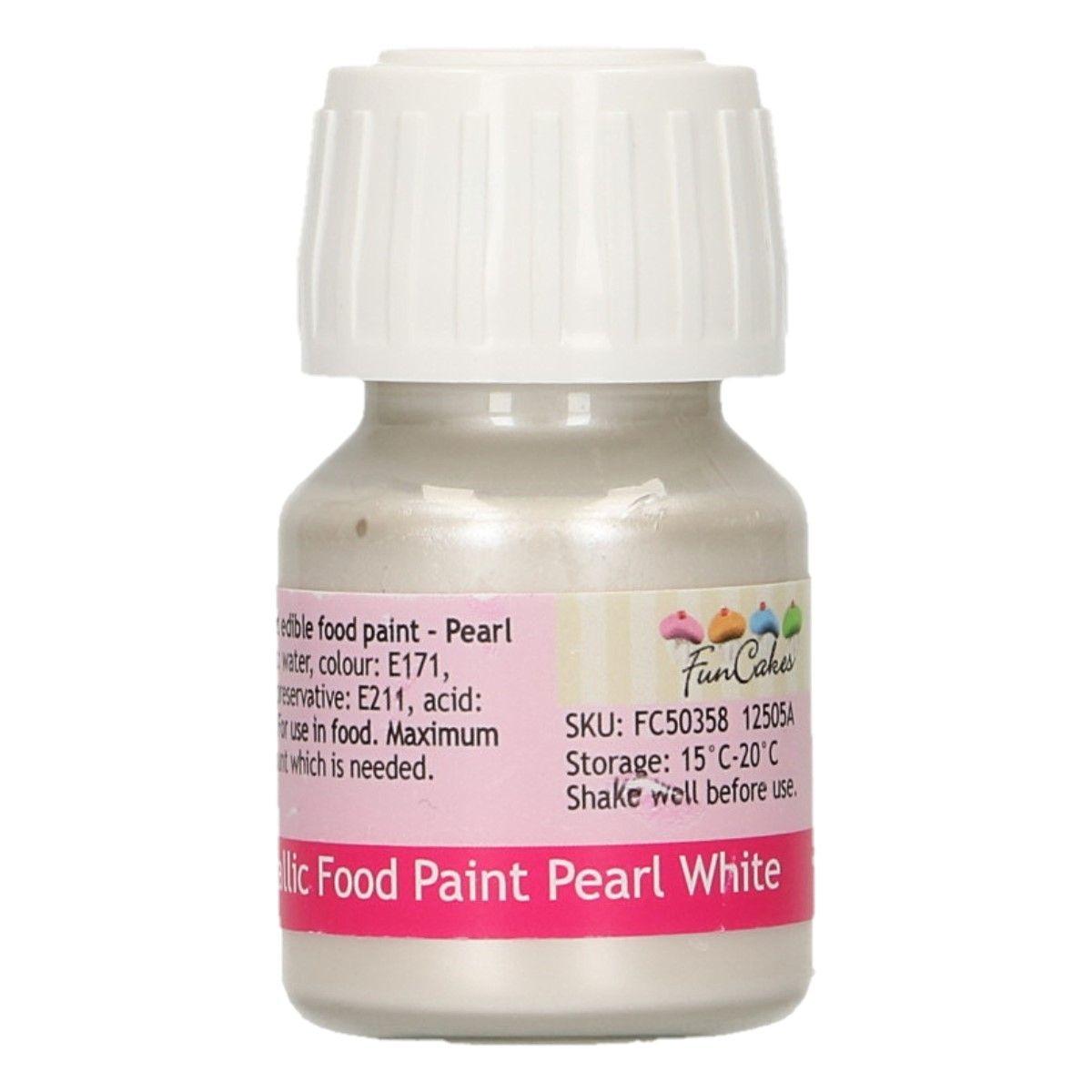 FunColours Metallic Food Paint Pearl White
