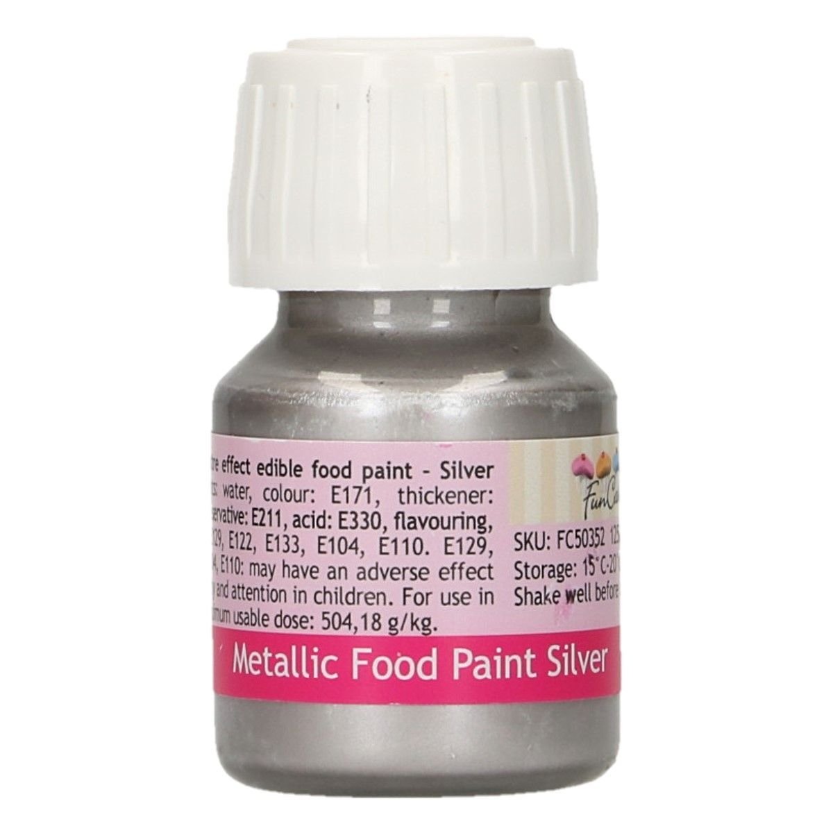 FunColours Metallic Food Paint Silver