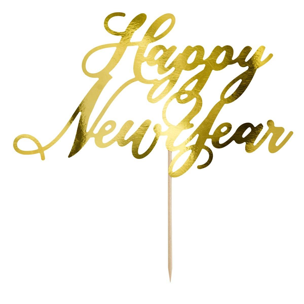 taarttopper happy new year tekst