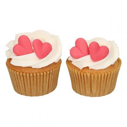 valentijn cupcakes rode hartjes