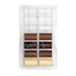 Doorzichtige bonbonvorm voor cilindervormige bonbons