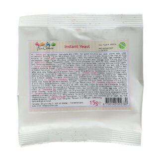 verpakking 15 gram verpakking instant gist van Funcakes