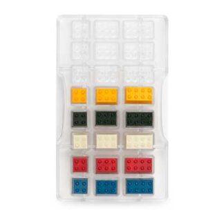 polycarbonaat vorm voor chocolade lego blokjes