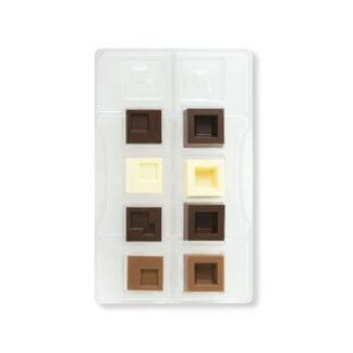Polycarbonaat chocolade vorm met vierkante vormpjes voor bonbons