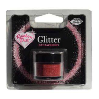 eetbare glitters aardbei rood