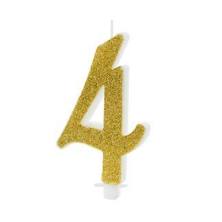 cijfer kaarsje nummer 4