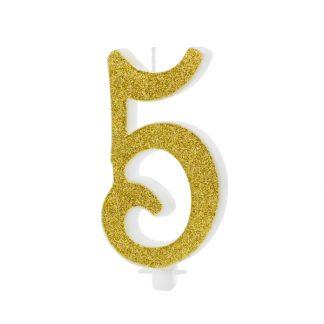 cijfer kaarsje nummer 5