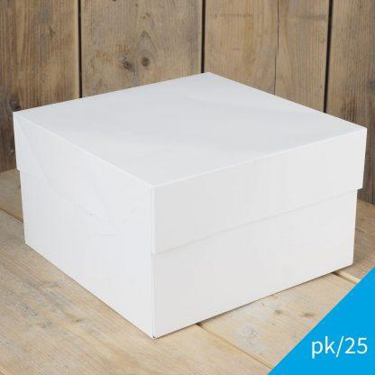 Set van 25 taartdozen van 25x25x15 cm