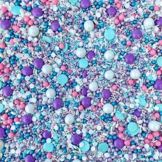 strooisels in zeemeermin kleuren