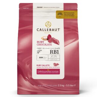 callebaut ruby chocolade 2,5 kilogram