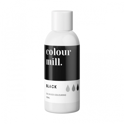 colour mill zwart grote fles